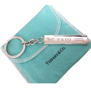 Tiffany & Co. Sterling Silver 1837 key ring T & Co